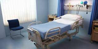 hospital bed.