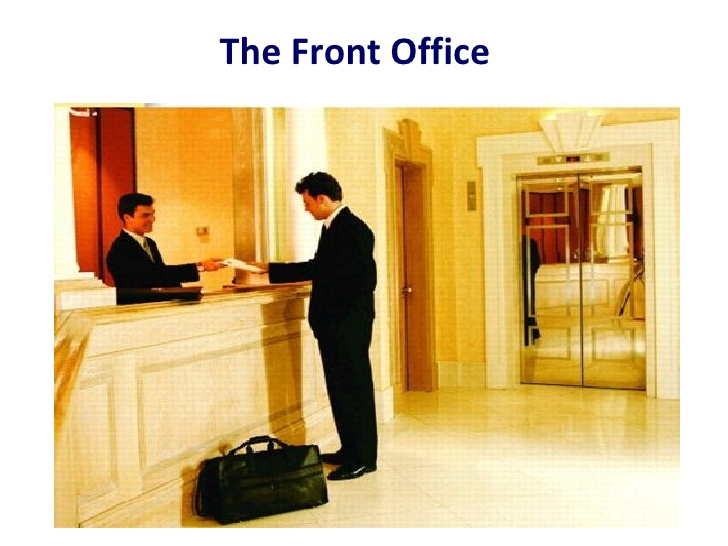 front office.