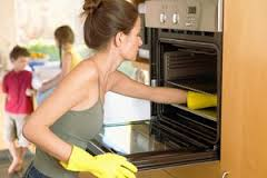 clean oven.