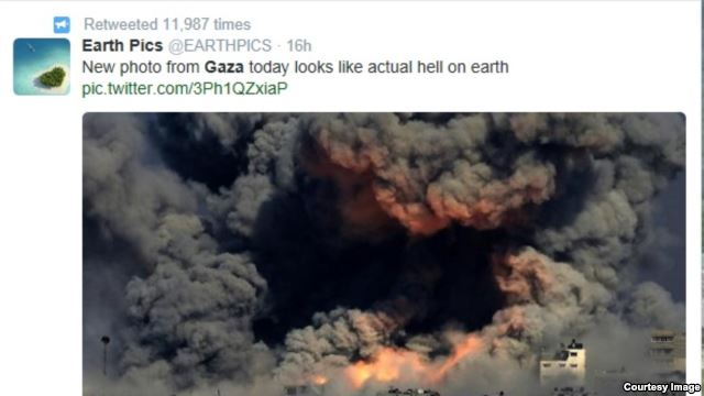 War in Gaza is also on the internet